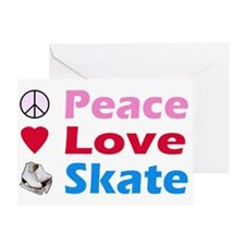 Peace Love Skate Greeting Card