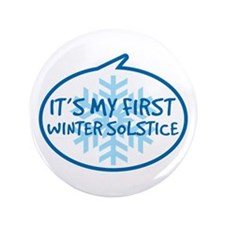 "Baby's First Winter Solstice 3.5"" Button (100 pack"