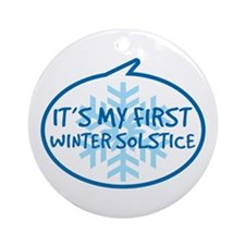 Baby's First Winter Solstice Ornament (Round)