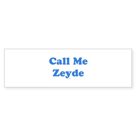 Call Me Zeyde Jewish Sticker (Bumper)