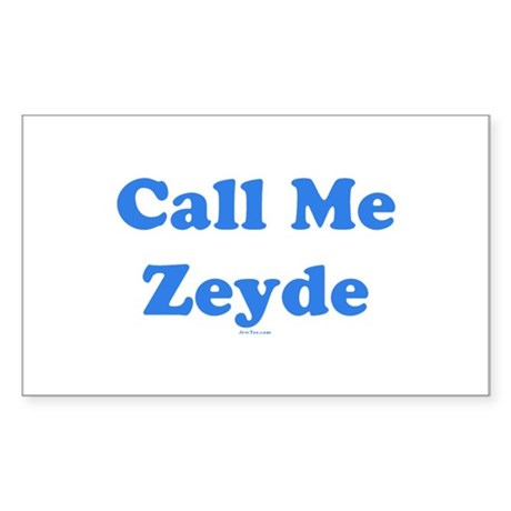 Call Me Zeyde Jewish Sticker (Rectangle)