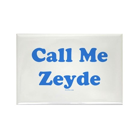Call Me Zeyde Jewish Rectangle Magnet (10 pack)