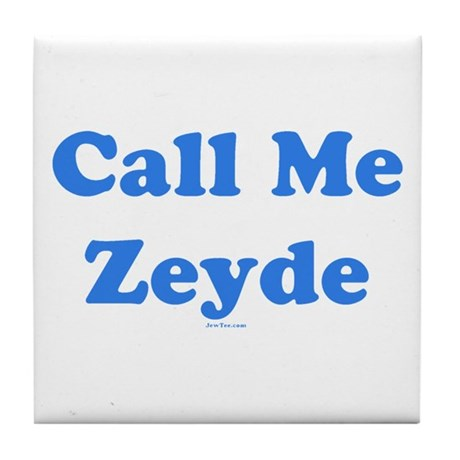 Call Me Zeyde Jewish Tile Coaster