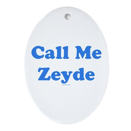 Call Me Zeyde Jewish Ornament (Oval)