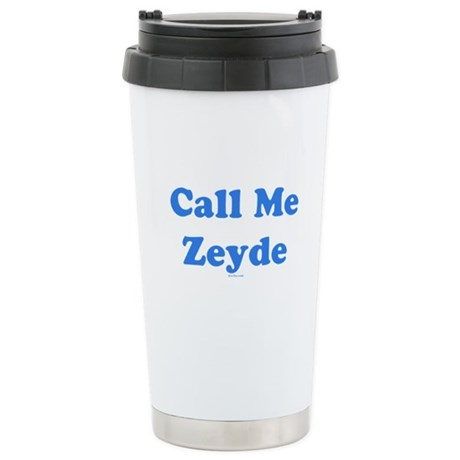 Call Me Zeyde Jewish Ceramic Travel Mug