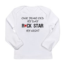 One year old by day Long Sleeve Infant T-Shirt