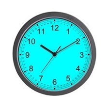 Light Blue Solid Color Wall Clock