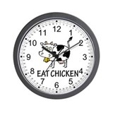 Eat Chicken Wall Clock