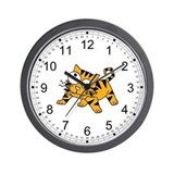 Crazy-eyed Cartoon Tiger Wall Clock