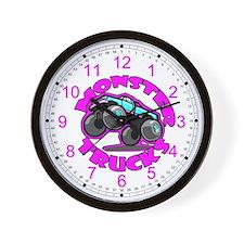Monster Trucks Kids Wall Clock