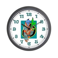 Futuristic Bounty Hunter Wall Clock