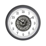 Wire hubcap garage Wall Clock