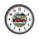 Red 'Vette Wall Clock