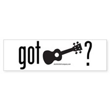 Got Ukulele Bumper Sticker