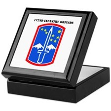 SSI-172nd Infantry Brigade with text Keepsake Box