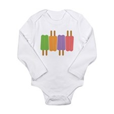 Popsicle Long Sleeve Infant Bodysuit