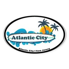 Atlantic City NJ - Surf Design. Decal