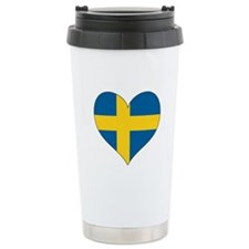 Flag in Heart Ceramic Travel Mug