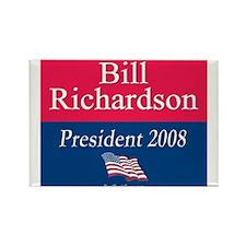 """""""Bill Richardson President"""" Rectangle Magnet"""