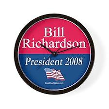 """Bill Richardson President"" Wall Clock"