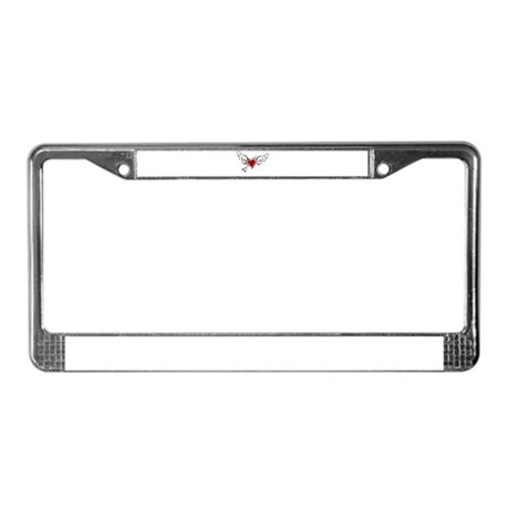 HEART, WINGS & ARROW {1} : re License Plate Frame