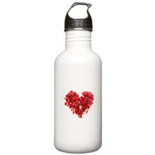 ROSE PETAL HEART Water Bottle