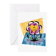HAPPY FLOWER Greeting Cards (Pk of 20)