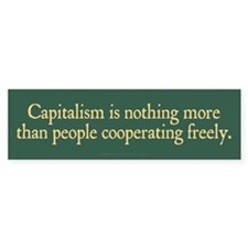 Capitalist Cooperation Bumper Sticker