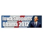 Iowa Supports Obama 2012 bumper sticker