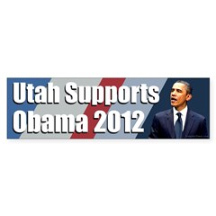 Utah Supports Obama 2012 bumper sticker
