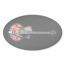 Tie Dye Guitar Decal