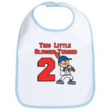 Little Slugger Turned Two Bib