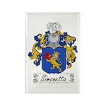 Simonetta Family Crest Rectangle Magnet