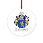 Simonetta Family Crest Ornament (Round)