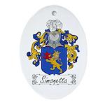 Simonetta Family Crest Oval Ornament