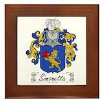 Simonetta Family Crest Framed Tile