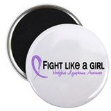 "Fight Like A Girl Hodgkin's Lymphoma 2.25"" Magnet"