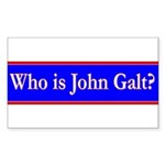 John Galt Sticker (Rectangle 50 pk)