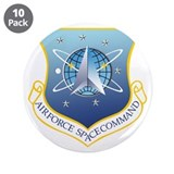 "Cute Air force space command 3.5"" Button (10 pack)"
