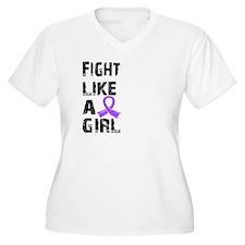 Fight Like A Girl Hodgkin's Lymphoma T-Shirt