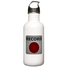 Record Button Water Bottle