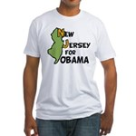 New Jersey for Obama 2012 Fitted T-Shirt