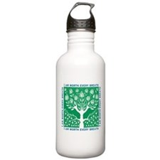 Tree of Love Green Water Bottle
