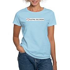 Play Recorder Women's Pink T-Shirt