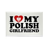 I Love My Polish Girlfriend Rectangle Magnet