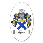 Sforza Coat of Arms Oval Sticker