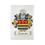 Severino Family Crest Rectangle Magnet (100 pack)