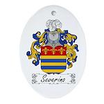 Severino Family Crest Oval Ornament