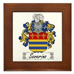 Severino Family Crest Framed Tile