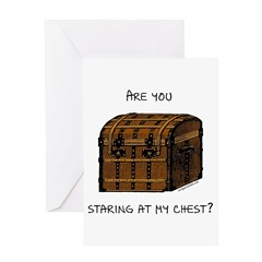 Staring at my chest pirate Greeting Card